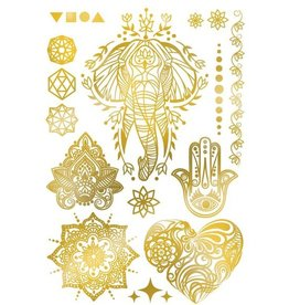 Les tatoués Gold Temporary Tattoos