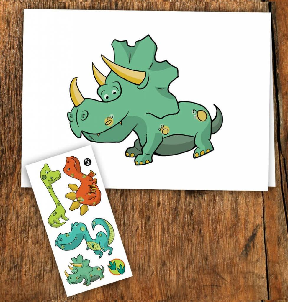 Pico tatoo Pico Tattoo Dinosaur Greeting Card