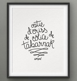 Darveelicious 5x7 Print Sacrée // Ostie... Amen!