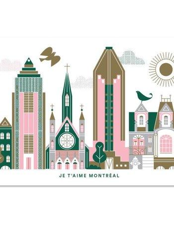 Je t'aime Montreal Postcard