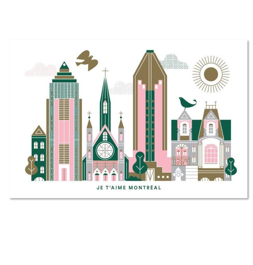 Paperole Paperole Carte Postale Je t'aime Montreal