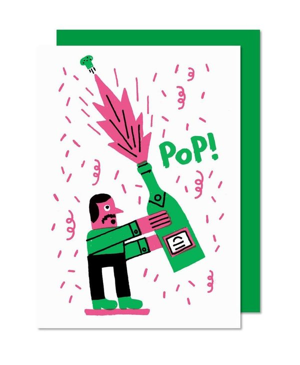 Paperole Champagne Greeting Card