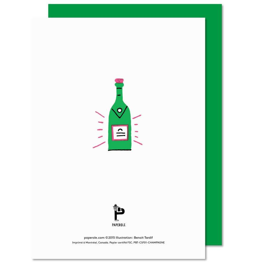 Paperole Paperole Champagne Greeting Card