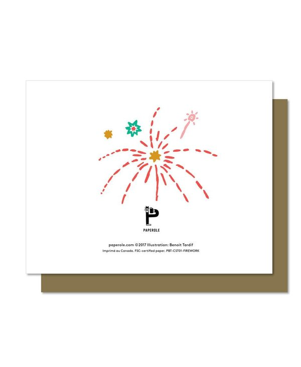 Paperole Firework Greeting Card
