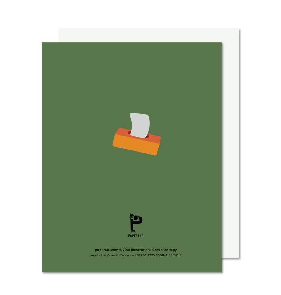 Paperole Paperole Carte Au Revoir