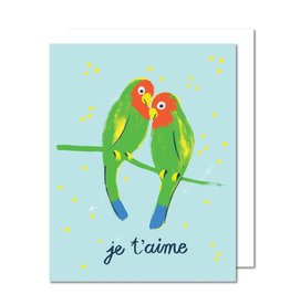 Paperole Carte souh. Lovebirds