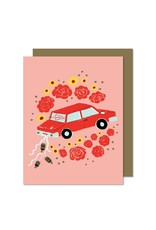 Paperole Paperole Just Married Greeting Card