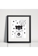 Lolly and Max Superhero Print 8 x 10