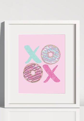 Donut XO Print 8 x 10