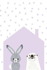Lolly and Max Animal House Print 8 x 10