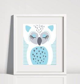 Sleeping Animal Print 8 x 10