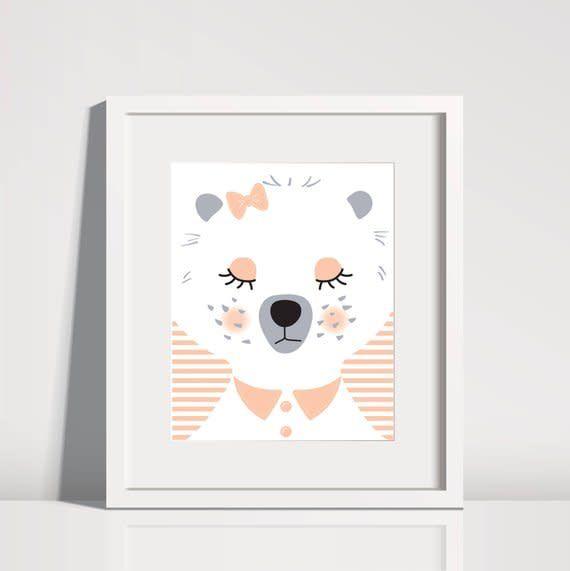 Lolly and Max Sleeping Animal Print 8 x 10