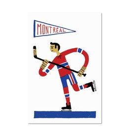 Paperole 8 x 10 Affichette Hockey
