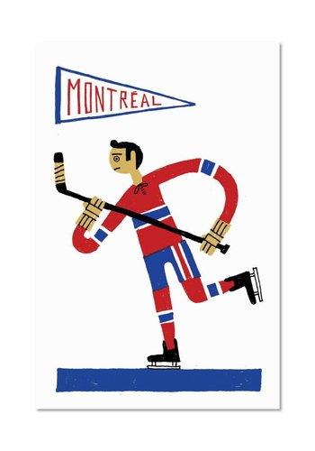 8 x 10 Affichette Hockey