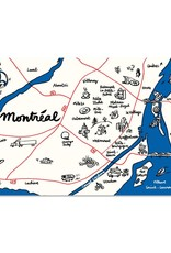 Paperole Paperole Map of Montreal Postcard