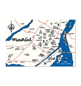 Paperole Carte Postale Map Montreal