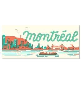 Paperole Carte postale skyline mtl