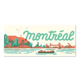 Paperole MTL Skyline Postcard