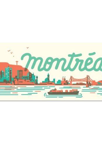 MTL Skyline Postcard