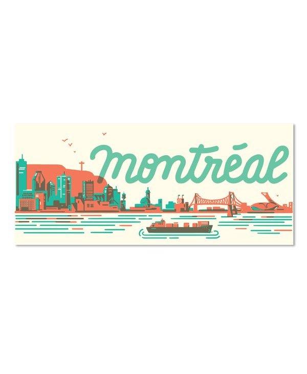 Paperole MTL Skyline Postcard