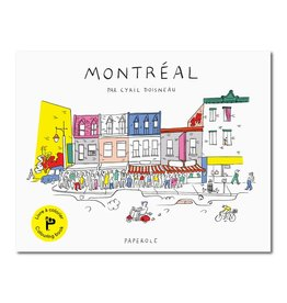 Paperole Montreal Colouring Book by Cyril Doisneau