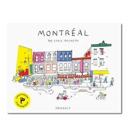 Paperole Livre à colorier Montréal par Cyril Doisneau