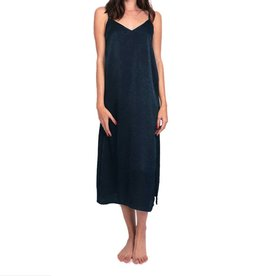 Cameo Long Lounge Slip Dress - Navy