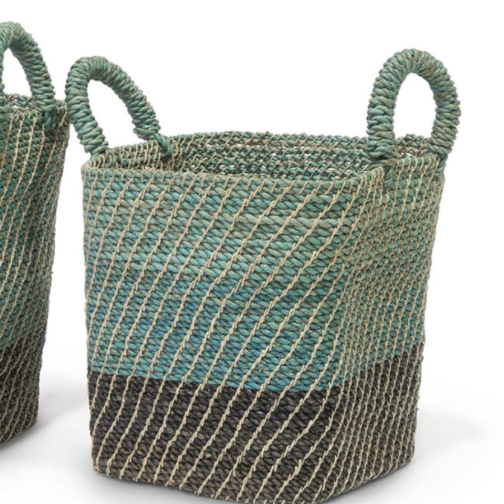 Basket - Lagos - Woven Blue Ombre -