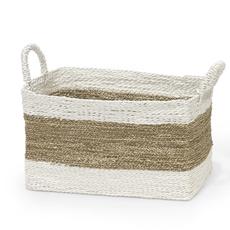 Basket - Tanna - Rectangular - Seagrass w/Rope Handles -