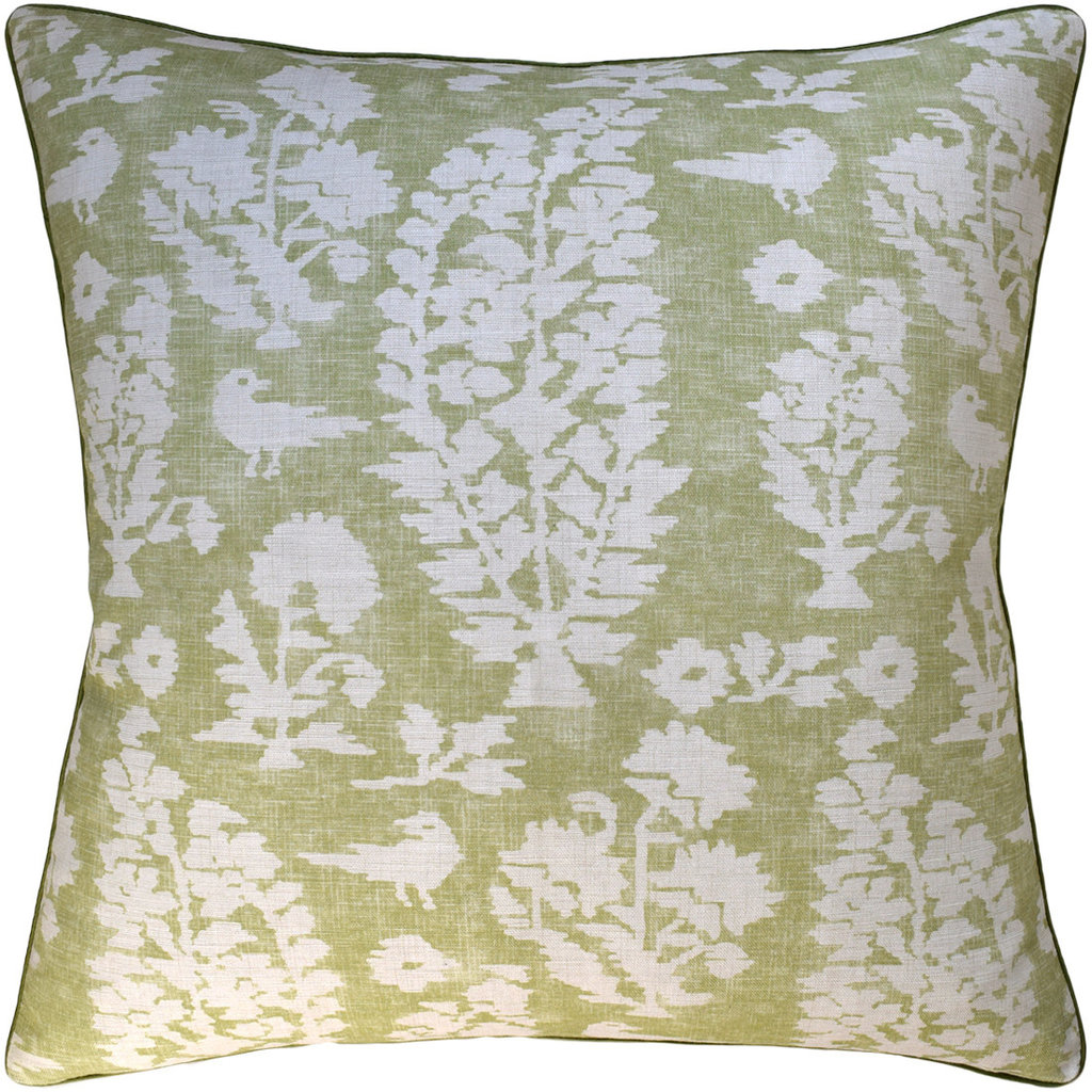 Allaire - Piped - Pillow - Spring Green - 22 x 22