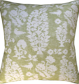 MH Allaire - Piped - Pillow - Spring Green - 22 x 22
