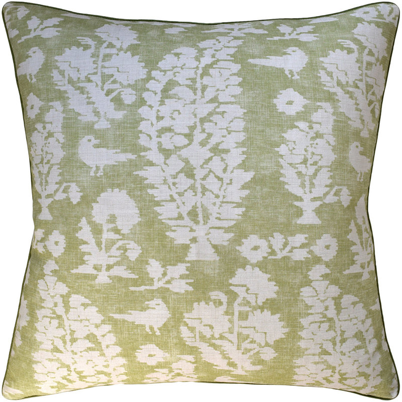 Ryan Studio Allaire - Piped - Pillow - Spring Green - 22 x 22