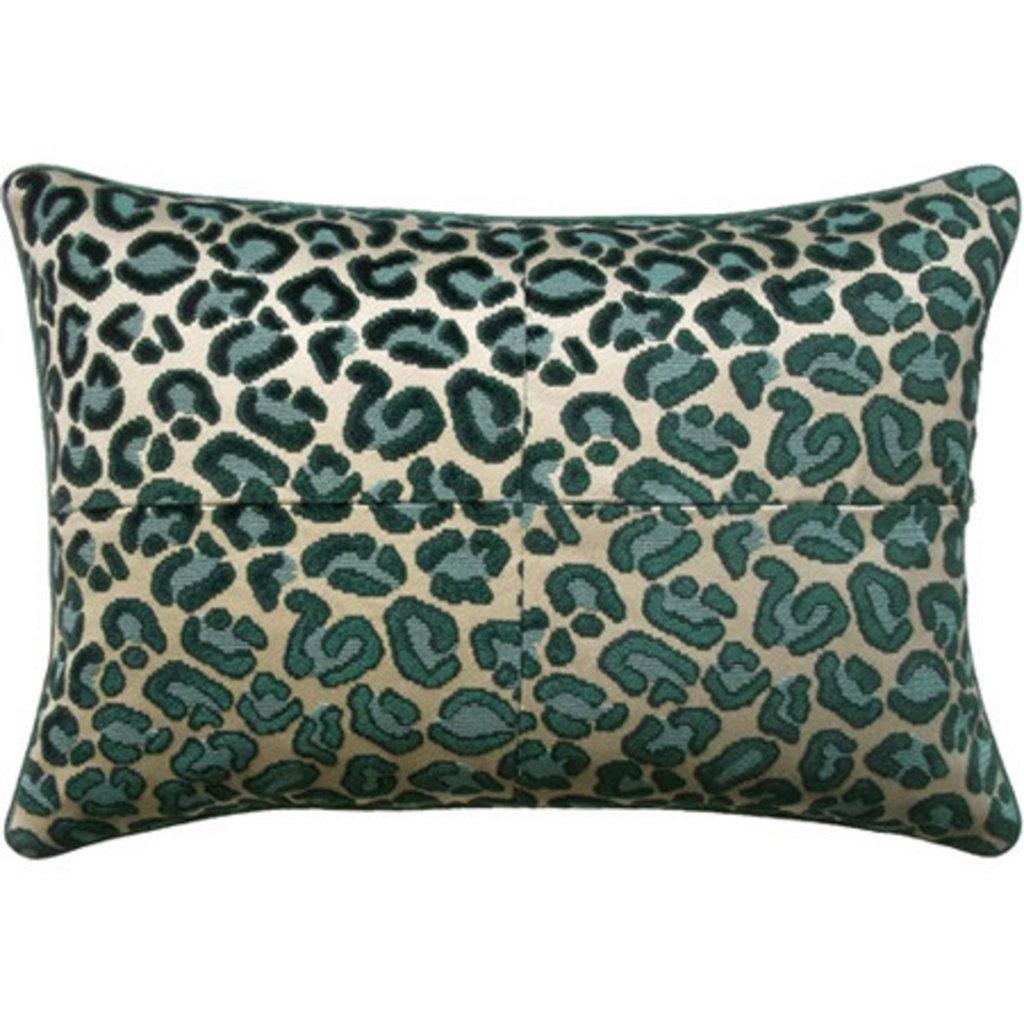 Cheetah Velvet - Piped - Pillow -
