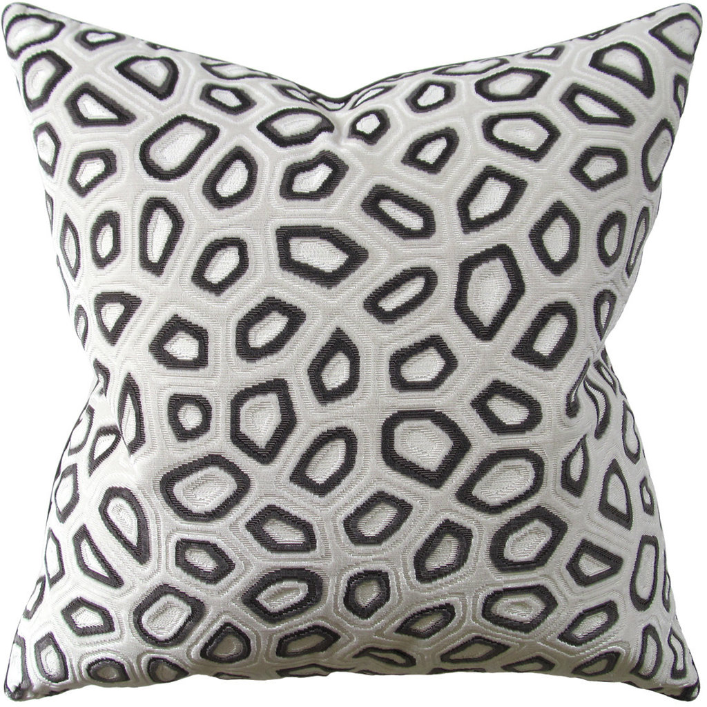 Chic Tortoise - Piped - Pillow - Steel - 22x22