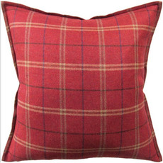 MH Crosby  - Flanged Pillow - Red - 22x22