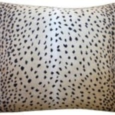 Doe - Piped - Pillow - Black - 14 x 20