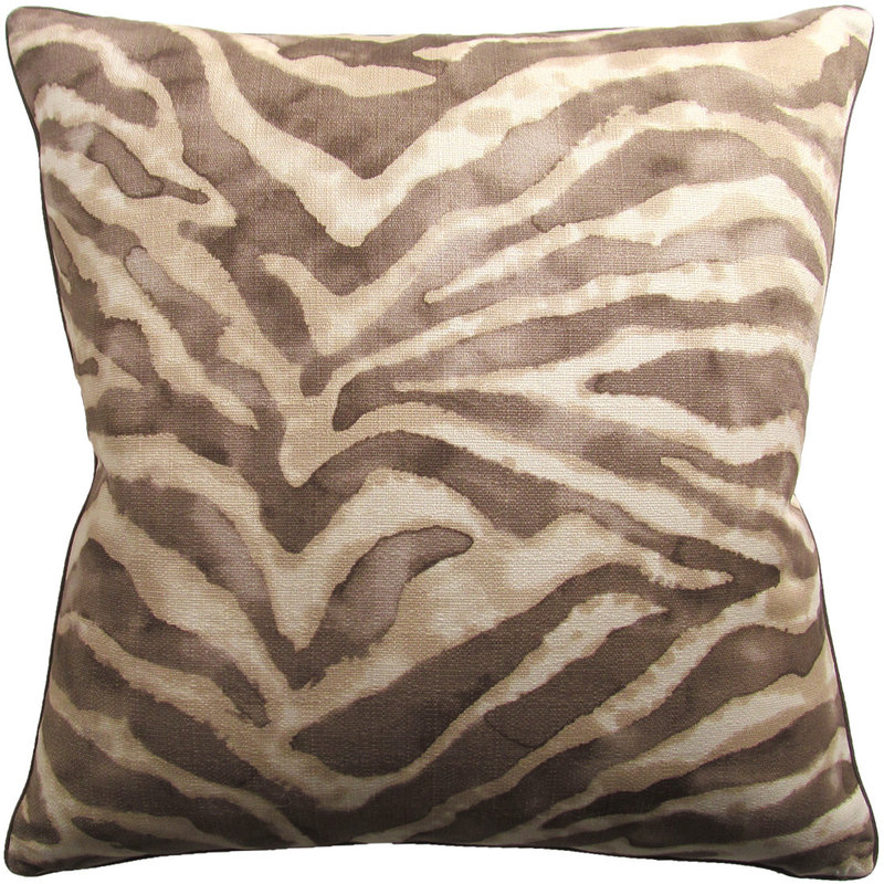 MH Jungle Cat - Piped Pillow - Chocolate - 22x22