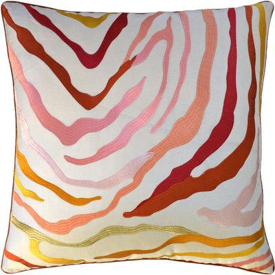 Kilimanjaro - Piped - Pillow - Coral - 22x22