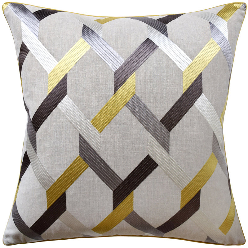 MH Posh - Piped Pillow - Mineral - Multiple Sizes