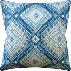 MH Rozel - Piped - Pillow - Indigo - 22x22