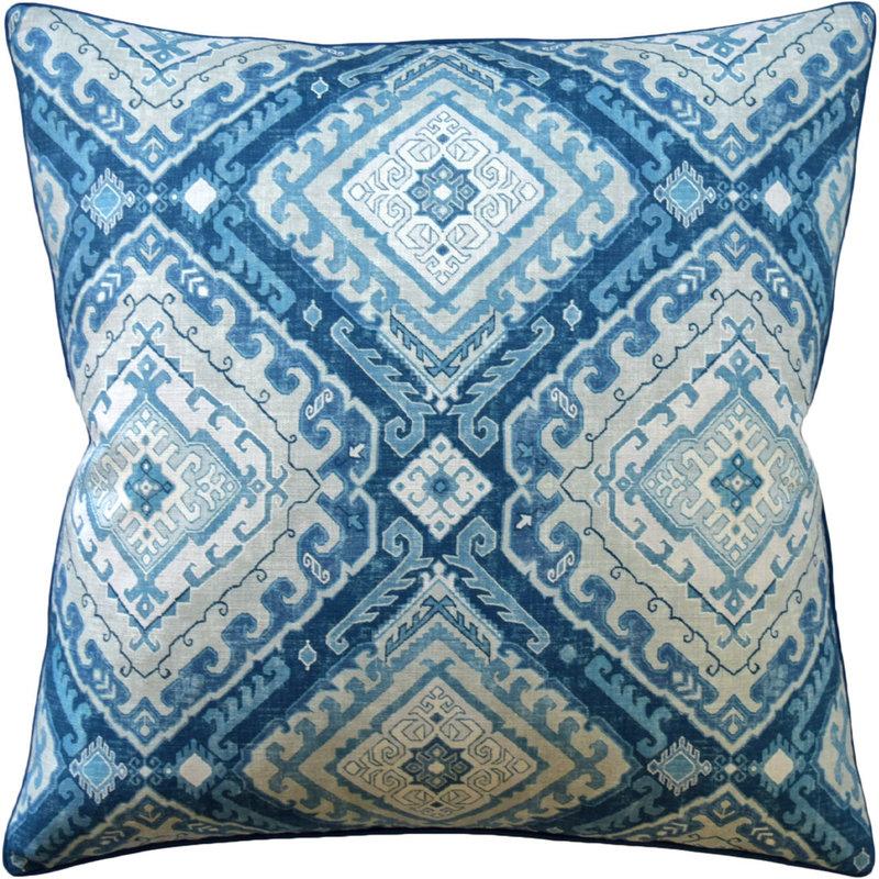 MH Rozel - Piped - Pillow - Indigo - 22x22