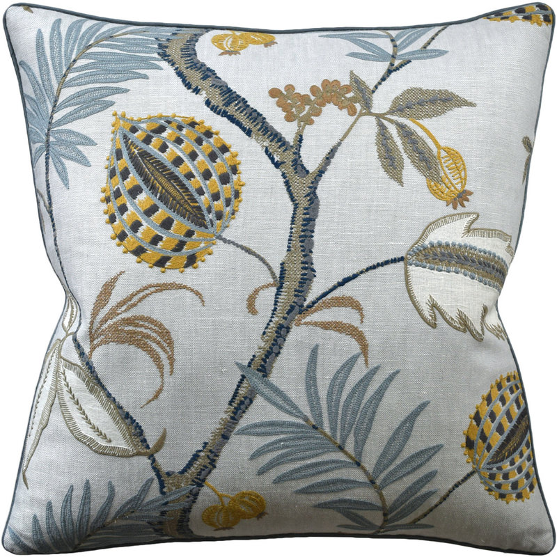MH Yantra - Piped Pillow - Honeycomb - 22x22
