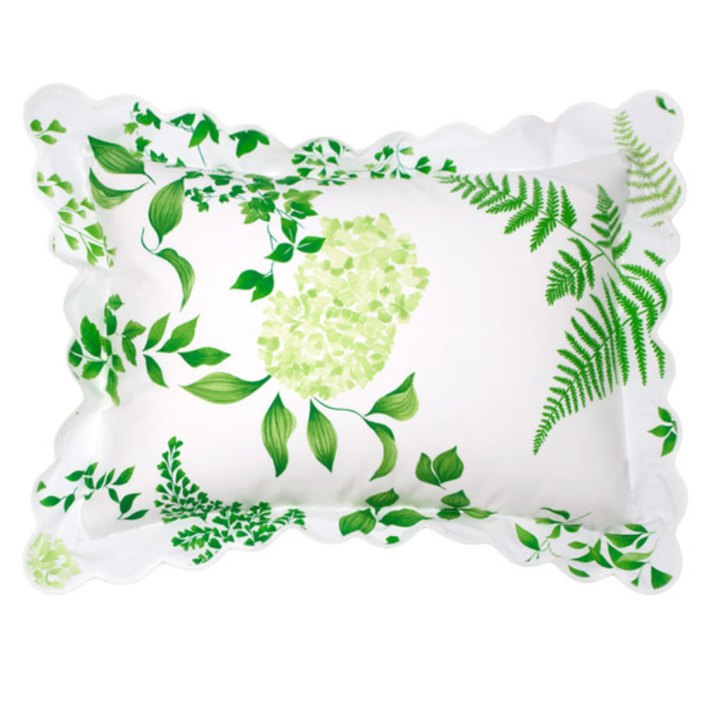 Mariage - Green - White Scallop - Bedding -
