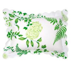 D. Porthault Mariage - Green - White Scallop - Boudoir