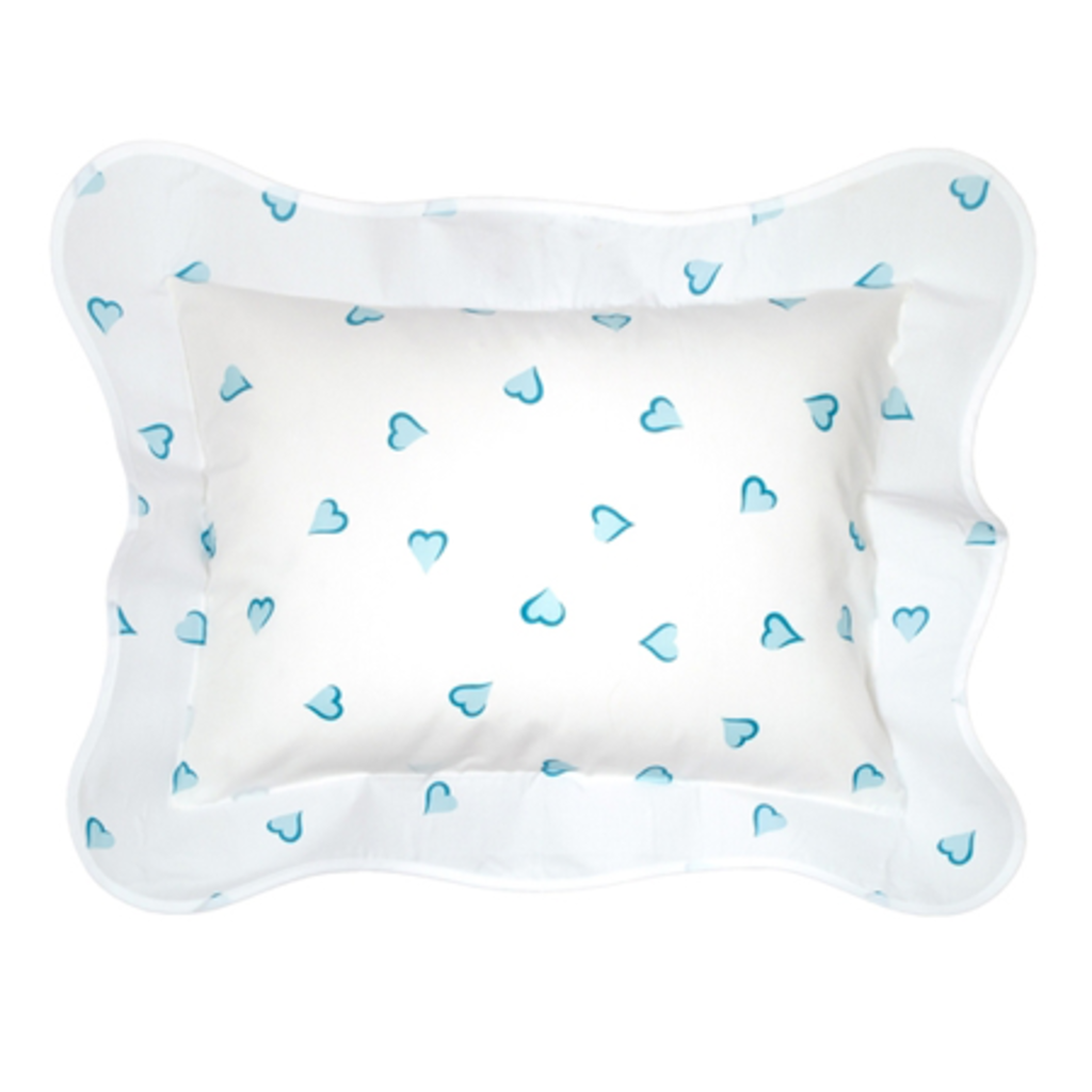 Coeurs - Turquoise - White Wavy - Bedding -
