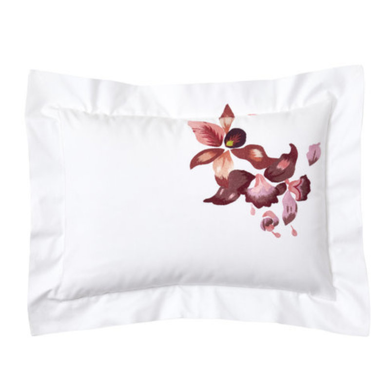 D. Porthault Orchidée - Red -  Embroidered - Bedding -
