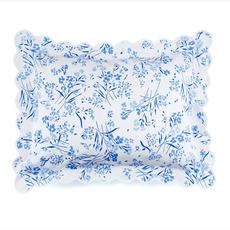 Fleurs des Champs - Blue - White Scallop - Bedding - Sham - Boudoir