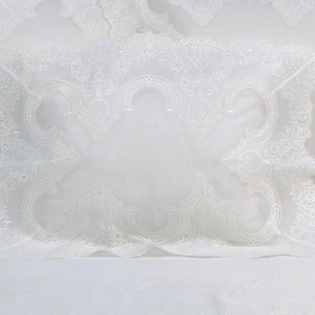 D. Porthault Guirlande - White - Bedding - Voile -