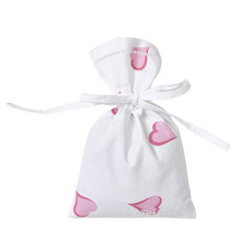 D. Porthault Sachet - Bag - Coeurs -