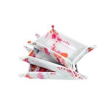 D. Porthault Travel Tray - Demoiselle - Pink/Orange - 3 Sizes